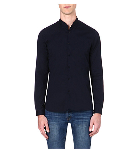 THE KOOPLES Cotton-blend shirt (Navy
