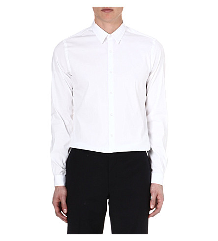 THE KOOPLES Slim-fit cotton-poplin shirt (White