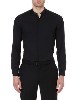 THE KOOPLES Contrasting Mandarin collar shirt