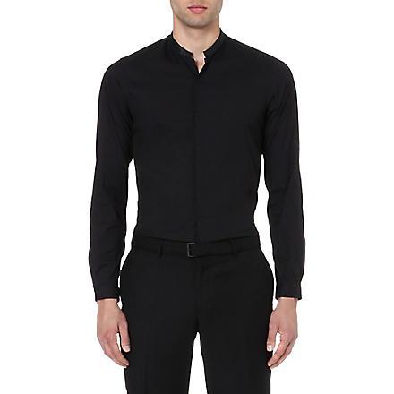 THE KOOPLES Contrasting Mandarin collar shirt (Black