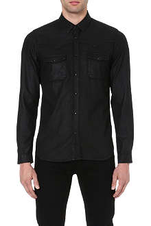 THE KOOPLES Wax denim shirt