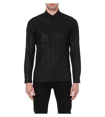 THE KOOPLES Wax denim shirt (Black