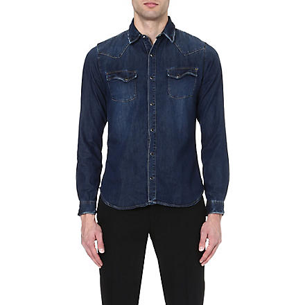 THE KOOPLES Washed denim shirt (Blue