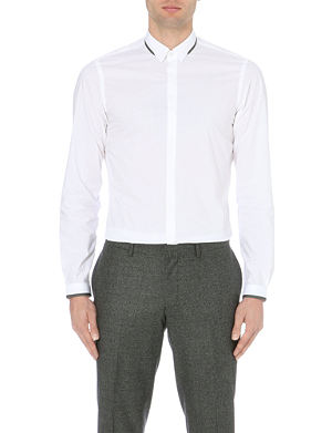 THE KOOPLES Contrast-trimmed cotton shirt