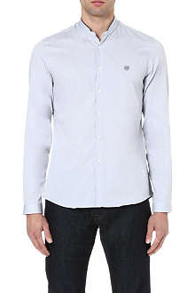 THE KOOPLES SPORT Contrast mandarin collar cotton shirt