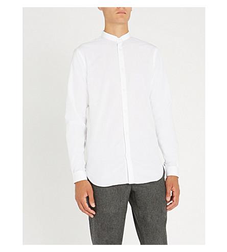 THE KOOPLES 军官-colalr 修身版型棉衬衫 (Whi01