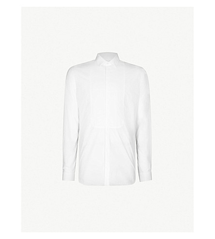 THE KOOPLES 修身版型前围兜棉衬衫 (Whi01