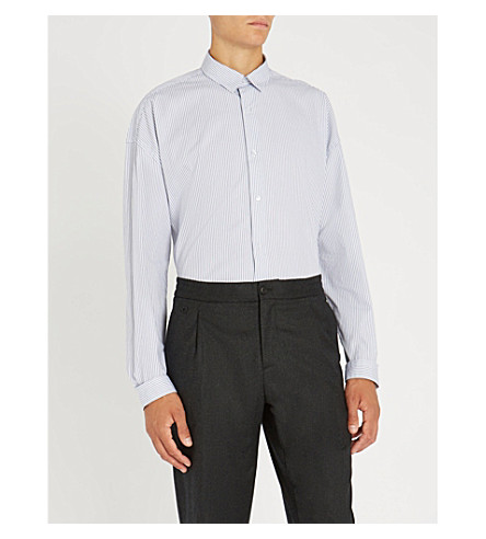 THE KOOPLES Striped slim-fit cotton shirt (Bla09