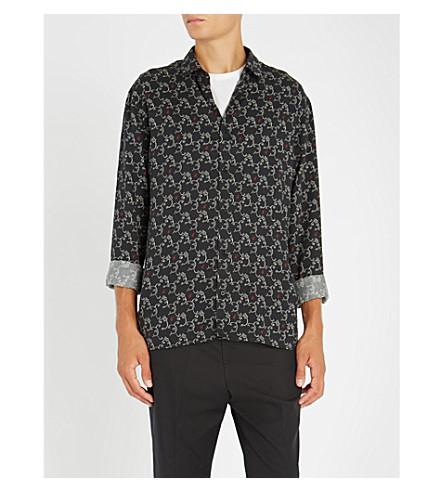 THE KOOPLES Paisley-pattern oversized woven shirt