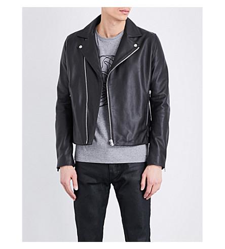 THE KOOPLES Leather biker jacket (Bla01