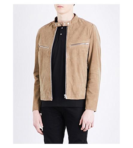 THE KOOPLES Mandarin-collar suede jacket (Cam01