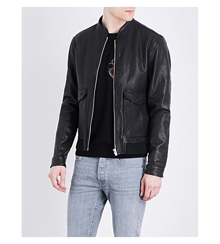THE KOOPLES MA-1 leather bomber jacket (Bla01