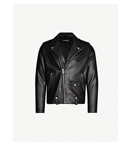 THE KOOPLES Leather biker jacket (Bla01