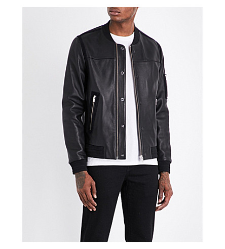 THE KOOPLES SPORT Teddy-collar leather bomber jacket (Bla01