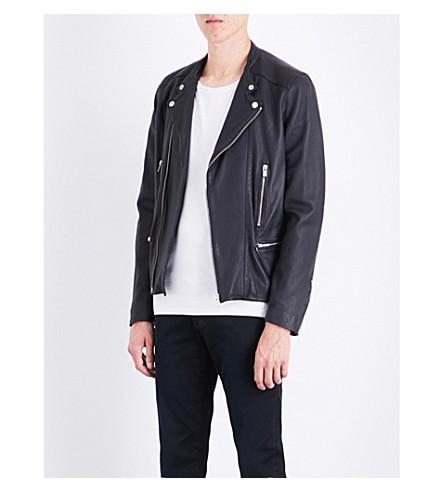 THE KOOPLES Moto leather jacket (Nav03