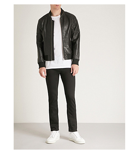 THE KOOPLES Teddy-style leather jacket with a zip ar (Bla01