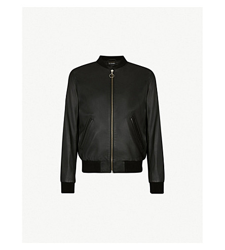 THE KOOPLES Bomber leather jacket (Bla01