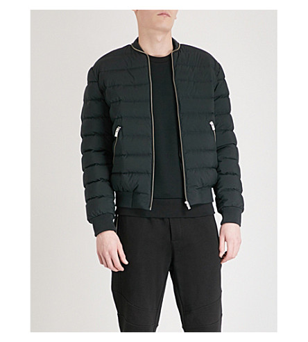 THE KOOPLES Stand-collar shell down jacket (Bla01