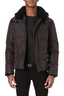 THE KOOPLES Shearling-collar padded coat