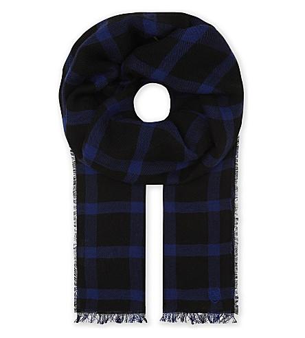 THE KOOPLES SPORT Harry wool check scarf (Blu44