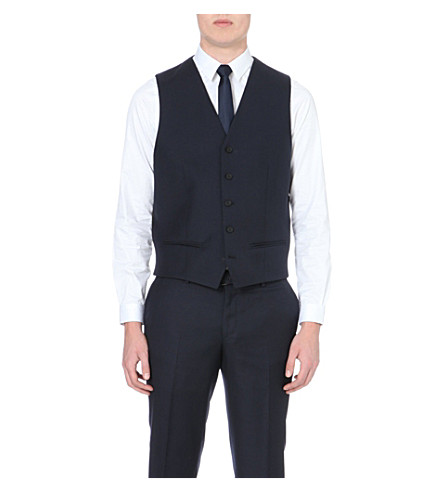 THE KOOPLES Single-breasted wool waistcoat (Dark+navy