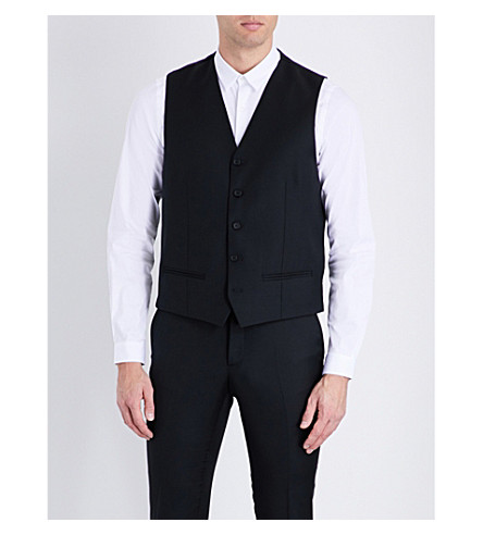 THE KOOPLES Satin-back wool waistcoat (Black