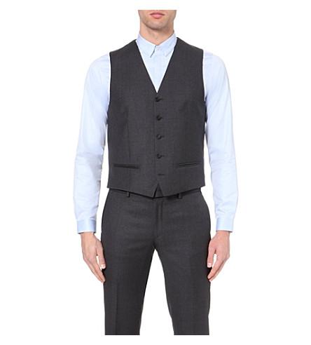 THE KOOPLES Satin-back wool waistcoat (Dark+grey