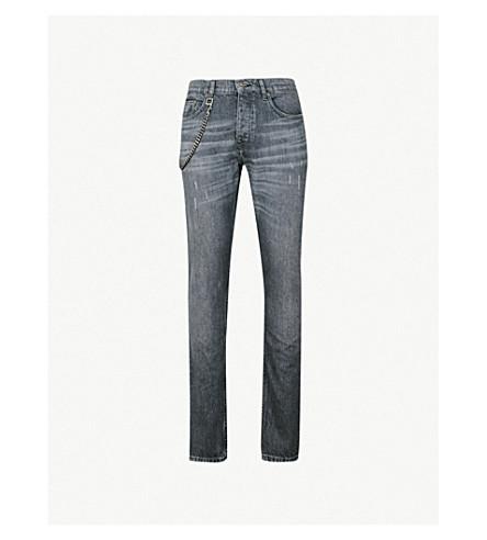THE KOOPLES Chain-detail slim-fit skinny jeans (Bla55