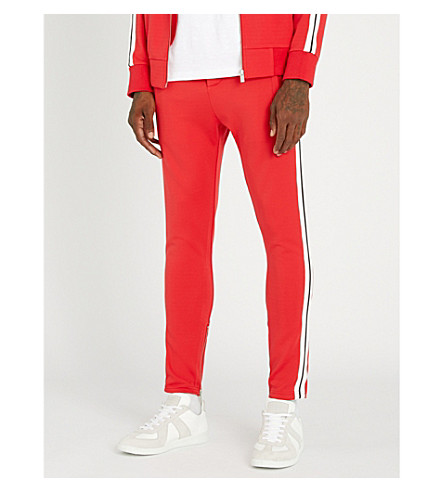 THE KOOPLES Side stripe cotton-jersey jogging bottoms (Red01