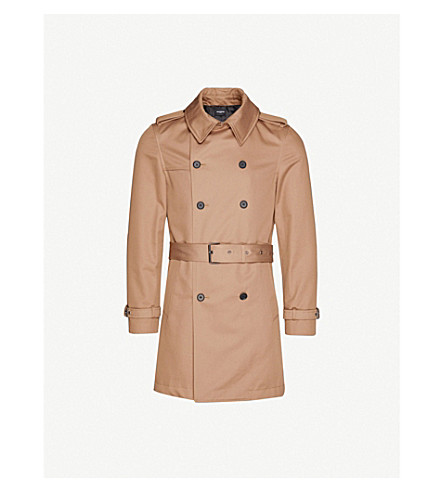 THE KOOPLES Double-breasted cotton trench coat (Bei01