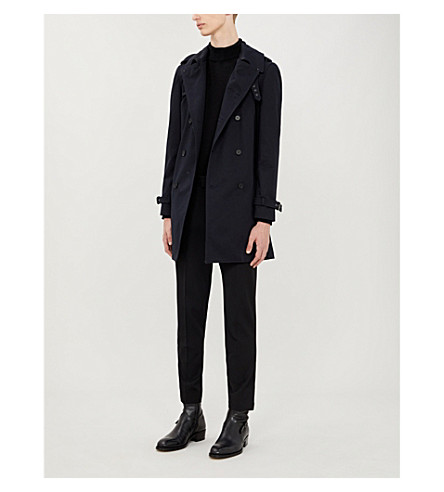 THE KOOPLES Double-breasted cotton trench coat (Nav03