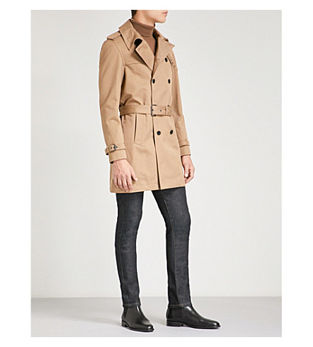 THE KOOPLES Double-breasted cotton-twill coat (Beige