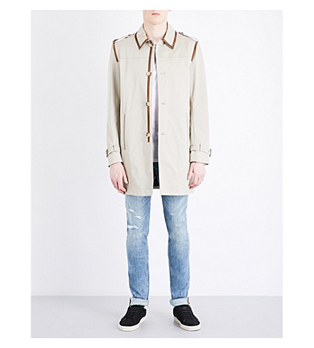 THE KOOPLES SPORT Beige cotton trench coat (Bei01