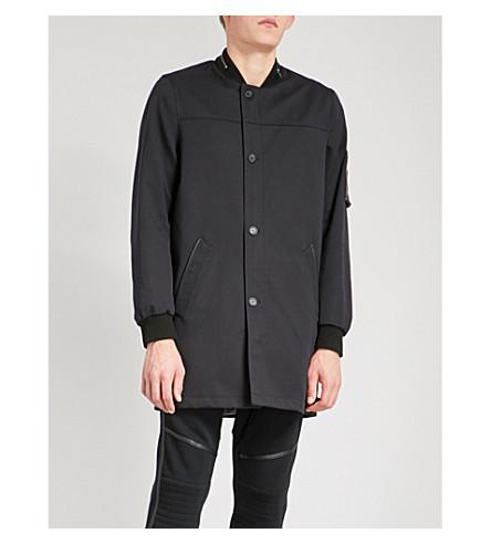 THE KOOPLES Varsity woven trench coat (Nav03
