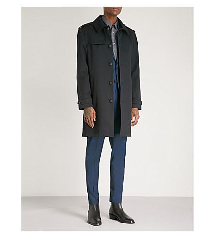THE KOOPLES Single-breasted cotton-twill trench coat (Nav01