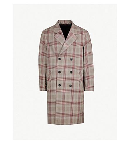 THE KOOPLES Checked cotton-blend coat (Bur07
