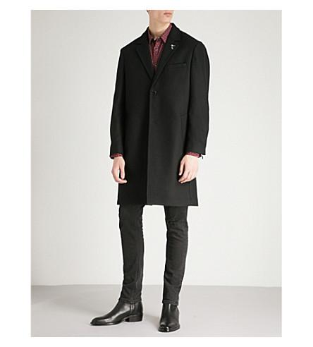 THE KOOPLES Guitar pin wool-blend coat (Bla01