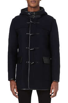 THE KOOPLES Leather-detailed duffle coat