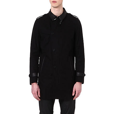 THE KOOPLES Straight-cut trench coat (Black
