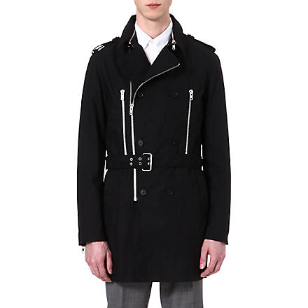 THE KOOPLES Double-breasted trench coat (Black