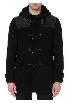 THE KOOPLES Leather panelled duffle coat