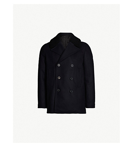 THE KOOPLES Relaxed-fit wool-blend reefer jacket (Nav01