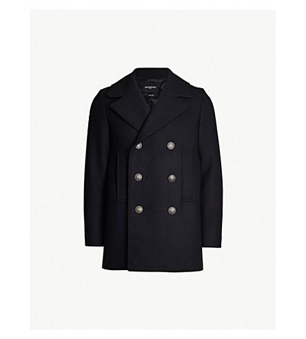 THE KOOPLES Double-breasted notch-lapel wool jacket (Nav02