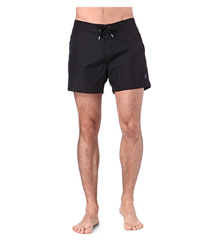 THE KOOPLES SPORT Skull-crest swim shorts (Black