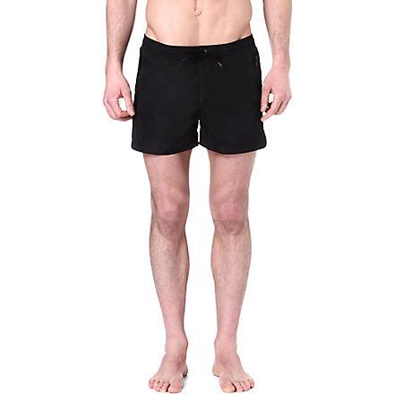 THE KOOPLES Zip-pocket swimming trunks (Black