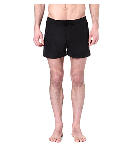 THE KOOPLES Zip-pocket swimming trunks (Black