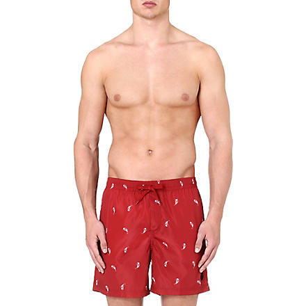 THE KOOPLES SPORT Paisley-print swimming trunks (Red-white