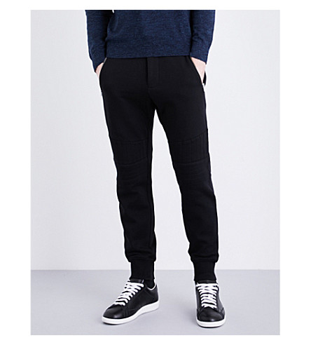 THE KOOPLES SPORT Biker tapered cotton-jersey track pants (Bla01