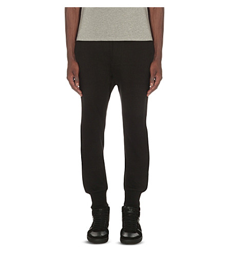 THE KOOPLES Classic cotton-jersey track pants (Black