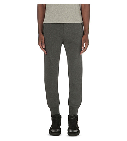 THE KOOPLES Fine-knit cotton jogging bottoms (Middle+grey